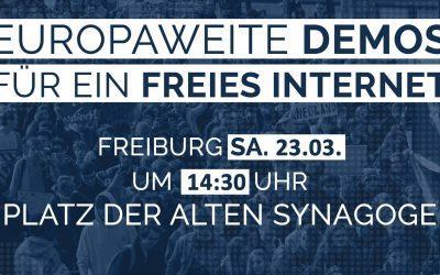 Demo für ein freies Internet
