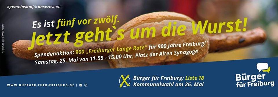 "Spendenaktion 900 ""Freiburger Lange Rote"""